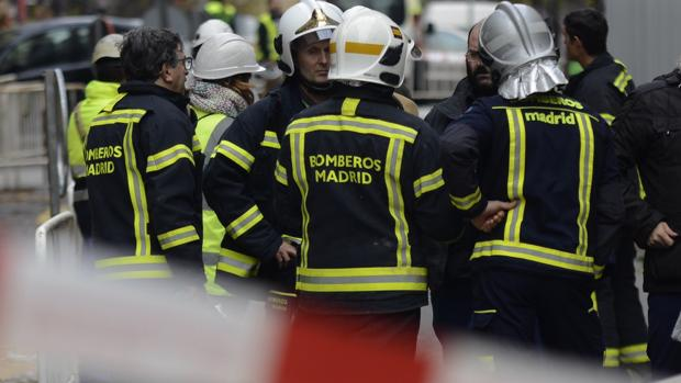 Bomberos del Ayuntamiento de Madrid, en una imagen de archivo