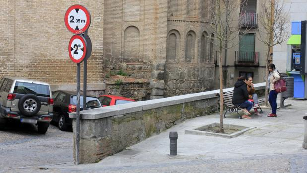 Muro de la plaza de San Vicente que será recuperado