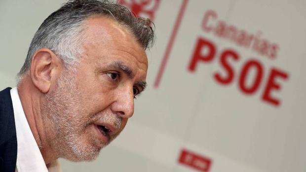 Ángel Víctor Torres este martes en rueda de prensa