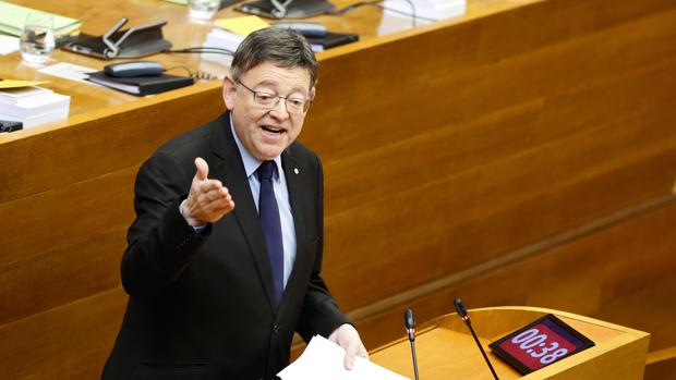 Ximo Puig, en las Cortes, en una imagen de archivo