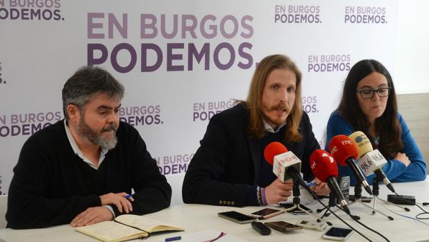 Lacámara, Fernández y Domínguez, este pasado martes en Burgos
