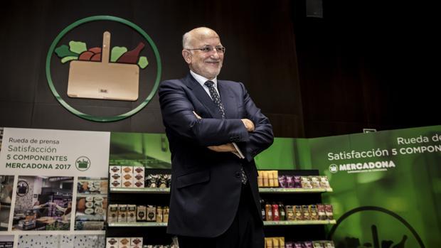 Imagen de Juan Roig tomada este martes durante la presentación de resultados de Mercadona