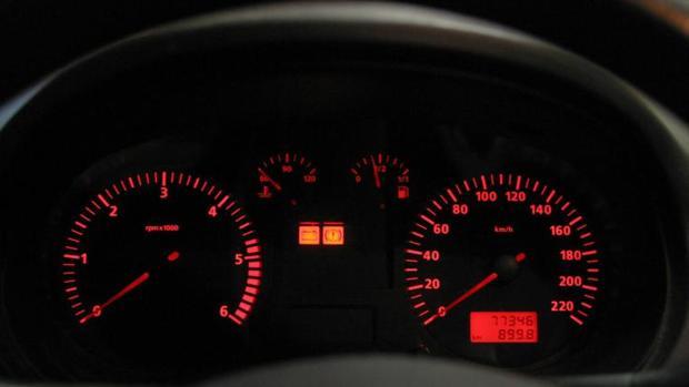 Cuentakilómetros de un vehículo