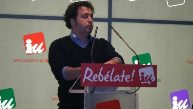Pedro del Cura, alcalde de Rivas Vaciamadrid, en un acto de IU
