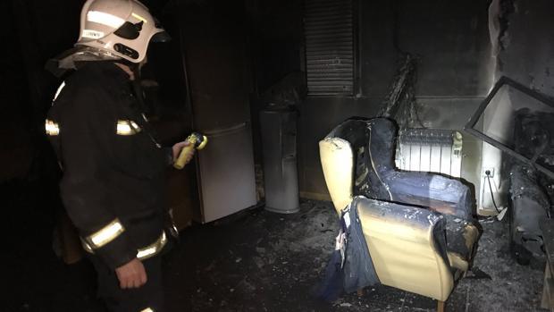 Imagen del interior de la vivienda incendiada