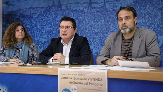 Isabel Ralero, Teo García y Javier Mateo, en la rueda de prensa