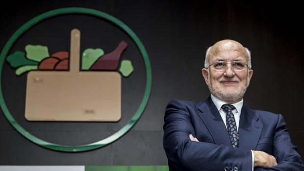 Imagen de Juan Roig durante la presentación de resultados de Mercadona