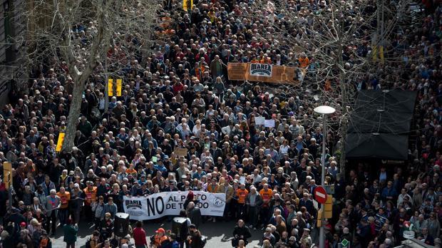 Los manifestantes han recorrido el centro de Barcelona