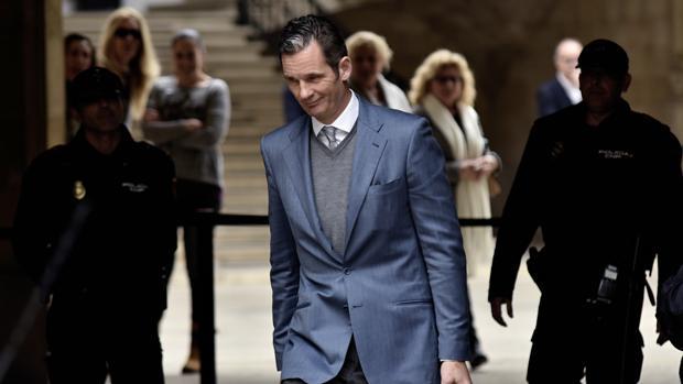 Iñaki Urdangarin sale de la Audiencia de Palma tras la vista de medidas cautelares