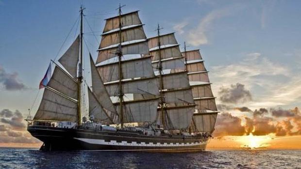 El segundo velero más grande del mundo, «Kruzenshtern»