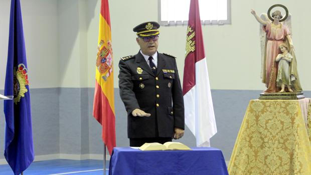 El jefe provincial, este lunes en la Jefatura Superior de Policía de Castilla-La Mancha