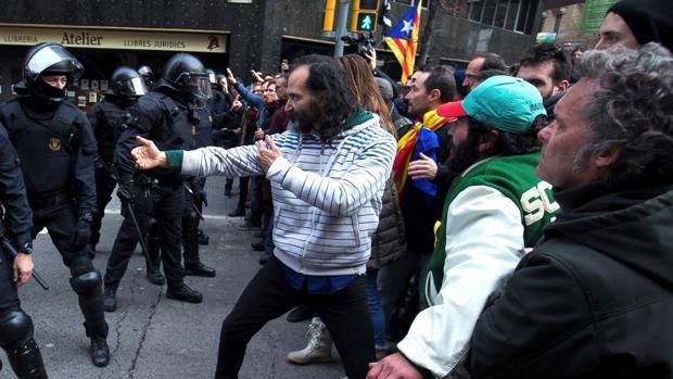 Manifestación de los CDR en Cataluña