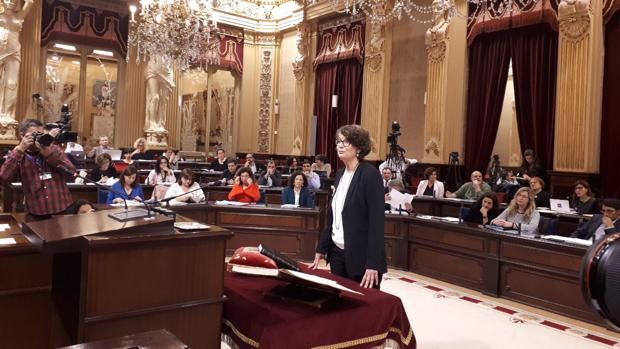 La nueva diputada Agustina Vilaret, integrada en la coalición ecosoberanista MÉS por Mallorca