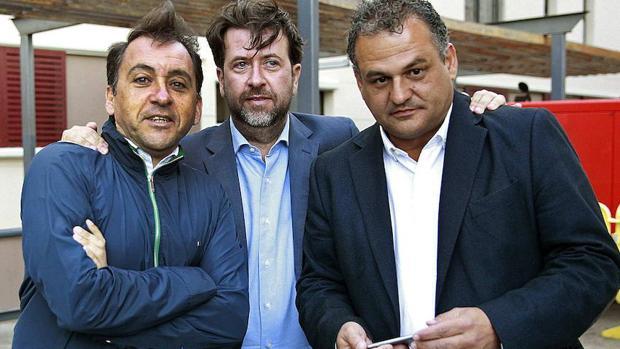 José Alberto Díaz , a la derecha de la imagen