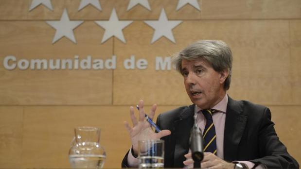 El portavoz del gobierno de la Comunidad de Madrid, Ángel Garrido, en la rueda de prensa posterior al Consejo de Gobierno
