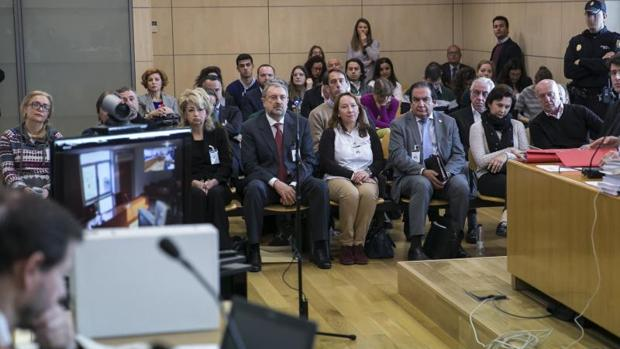 Imagen del juicio de la operación Troika contra la mafia rusa que se celebra en la Audiencia Nacional