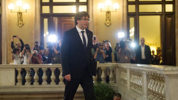 El expresidente de la Generalitat Jordi Sànchez en el Parlament