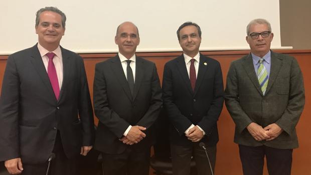 Jorge Rodríguez, Marcos Peñate, Antonio Llorens y Carlos Estévez