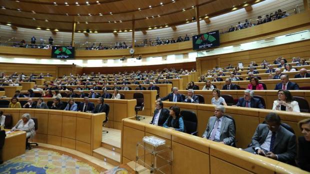 Sesión plenaria del Senado español, en imagen de archivo