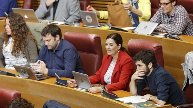 Los portavoces de Podemos en las Cortes Valencianas