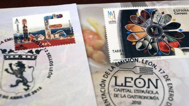 Imagen del sello erróneo con la imagen de la Catedral de Burgos