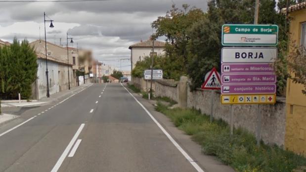 Travesía de la N-122 en el casco urbano de Borja (Zaragoza)