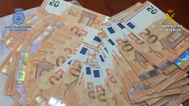 Imagen de los billetes falsos