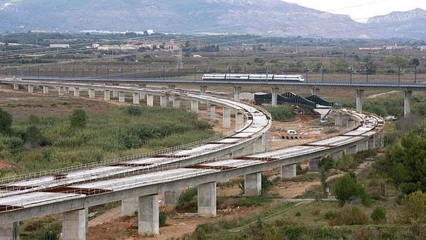 Imagen de las infraestructuras del Corredor Mediterráneo en la Comunidad Valenciana