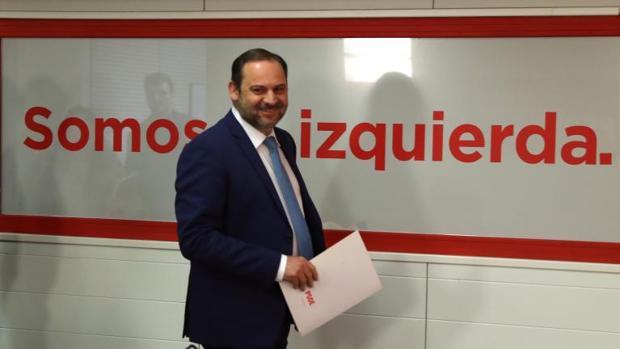 José Luis Ábalos, esta mañana