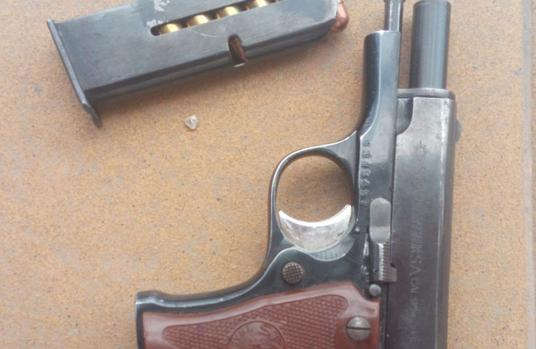 Imagen de la pistola encontrada por la Policía