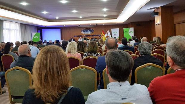 Acto de presentación de Vox celebrado en Gran Canaria
