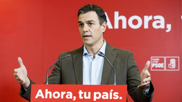 Pedro Sánchez durante un acto celebrado en Valladolid