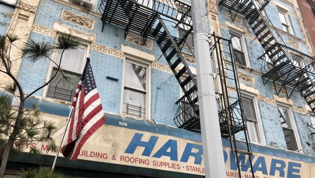 Fachada de un edificio en el barrio de Brooklyn, en Nueva York