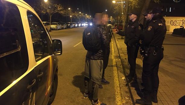 Imagen la intervención policial