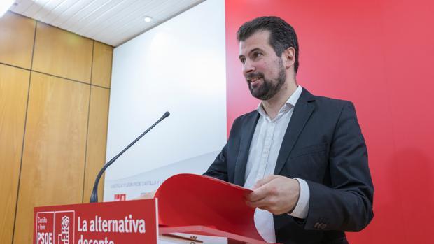 Luis Tudanca durante su comparecencia tras el pleno de la Comisión Ejecutiva del PSOE de Castilla y León