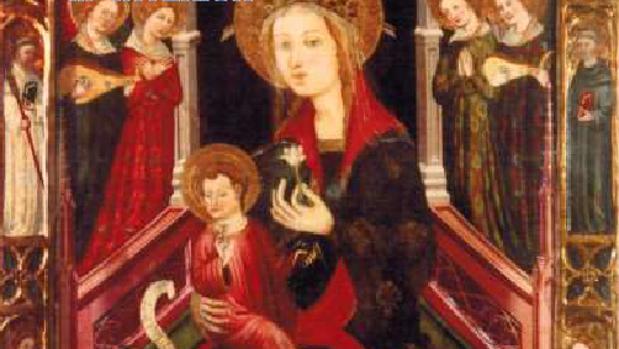 Imagen facilitada por la Policía Nacional de la pintura gótica que ha sido recuperada