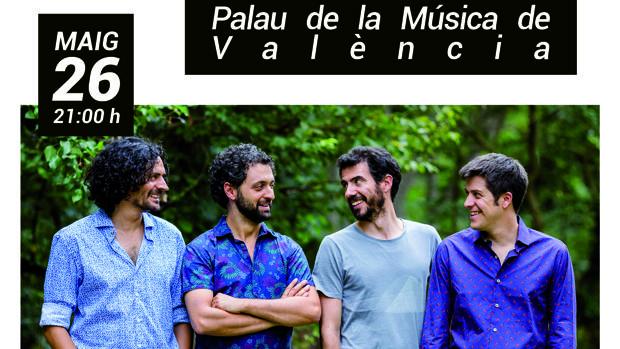 Imatge del cartell del concert de Els Amics de les Arts en València