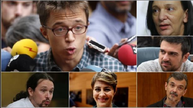 Los diferentes líderes de Podemos, enfrentados estos días