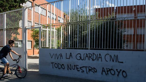 El Instituto IES El Palau de Sant Andreu de la Barca tras el referéndum del 1-O