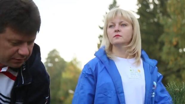 El fiscal de Tula, Alexander Kozlov y la alcaldesa de Klin, Alyona Sokolskaya
