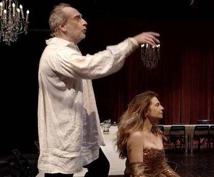 Gonzalo Castro y Lola Baldrich durante la obra