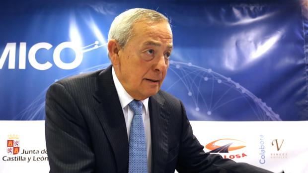 El exministro Carlos Solchaga, este lunes en Valladolid