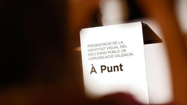Imagen de la presentación de la identidad visual de À Punt