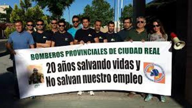 Protesta de bomberos de Ciudad Real