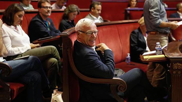 Imagen de archivo de Joan Ribó, en el Ayuntamiento de Valencia
