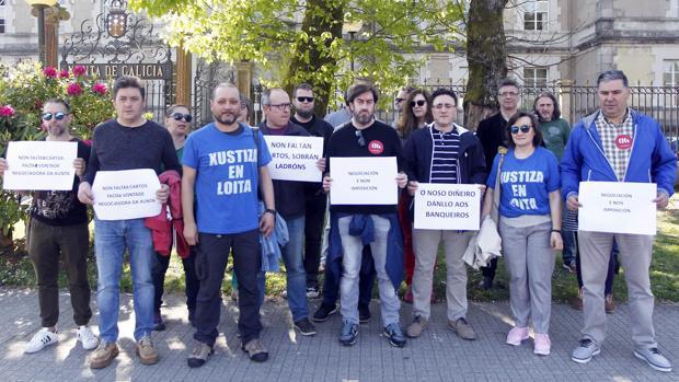Huelguistas de Justicia, este lunes en San Caetano