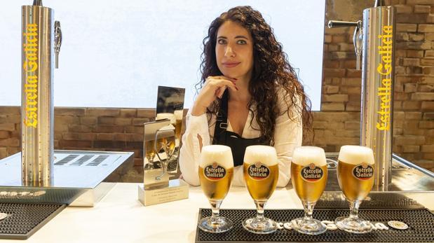 Davinia Martínez, la mejor tiradora de cerveza de España en 2018