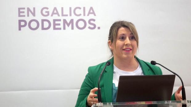 La secretaria general de Podemos Galicia, Carmen Santos