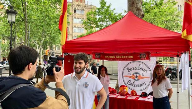 Una parada de la entidad en Barcelona
