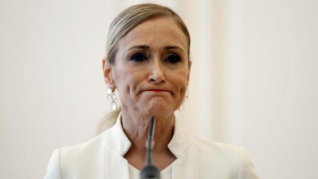 Cristina Cifuentes, el día de su dimisión en Sol